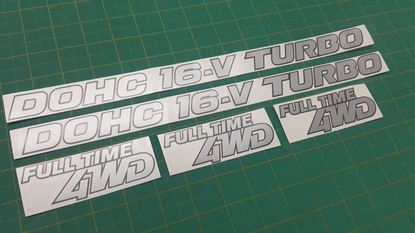 Picture of Mazda 323 GTX  replacement Decals / Stickers