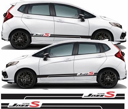 Picture of Honda Jazz Type S side Stripes / Stickers