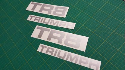 Picture of Triumph TR8  replacement rear Decals / Stickers