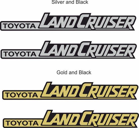 Toyota Land Cruiser Side Replacement Badge Decals Stickers on Toyota Land Cruiser Prado Uk