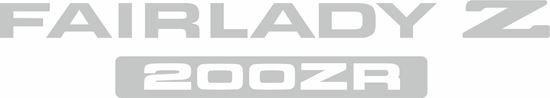 Picture of Nissan Fairlady Z 200ZR 1984-1989 replacement rear  Decal / sticker