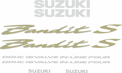 Picture of Suzuki  Bandit GSF 600S 2001 - 2003 replacement Decals / Stickers