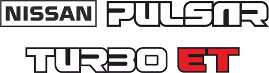 Picture of Nissan Pulsar Turbo N12 1982–1986 replacement rear Decals / Stickers