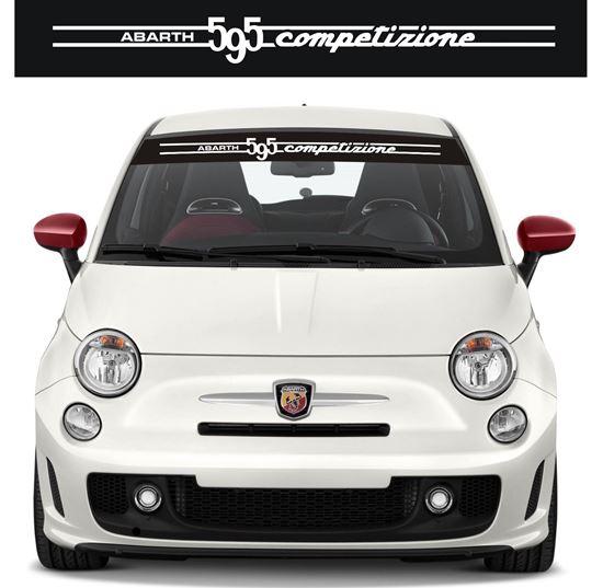 """Picture of Fiat 595 """"Competizione"""" Sunvisor  Decal / Sticker"""
