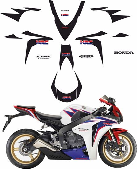 Picture of Honda CBR 1000RR Fireblade 2010 full HRC  replacement Decals / Stickers (Custom colour)