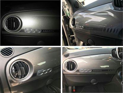 Picture of Fiat 500 / 595 Abarth interior Dash Stripe  / Sticker (Carbon Fibre)