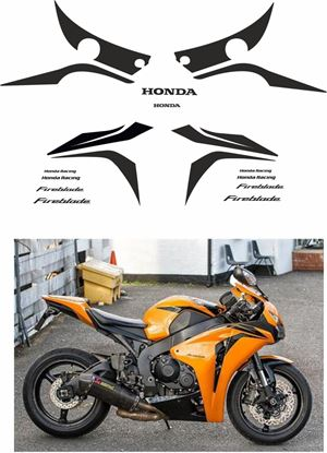 Picture of Honda CBR 1000RR Fireblade  2008 - 2009   Honda racing replacement Decals / Stickers
