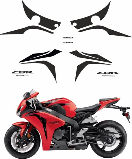 Picture of Honda CBR 1000RR 2008 - 2009   replacement Decals / Stickers