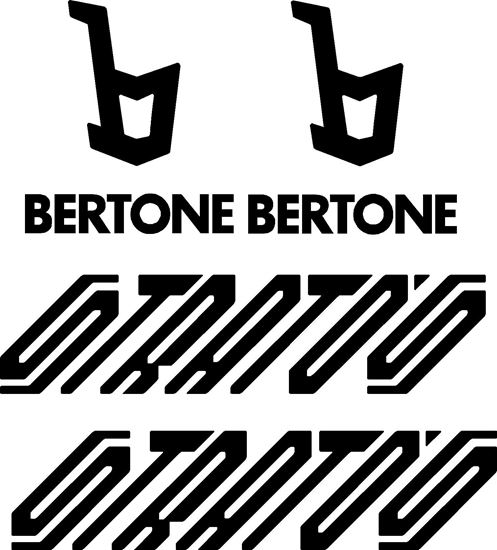Picture of Lancia Bertone Stratos replacement side Pillar and Door  Decals / Stickers