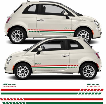 Picture of Fiat 500 Italian side Stripes / Stickers