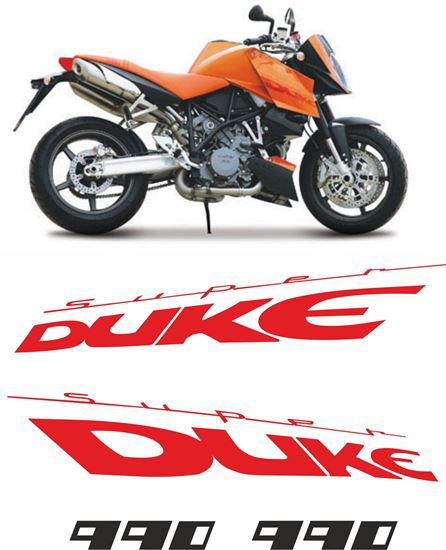 Picture of KTM Super Duke 990 2005 - 2007  replacement Decals / Stickers