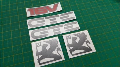 Picture of Vauxhall  Astra MK2 GTE 16v  replacement Decals / Stickers