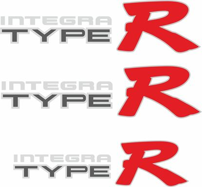 Picture of Honda Integra Type R DC2 / DB8  Replacement side and rear Decals / Stickers for darker paint