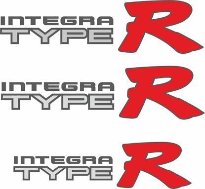 Picture of Honda Integra Type R DC2 / DB8 Replacement side and rear Decals / Stickers for lighter paint