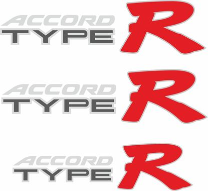 Picture of Honda Accord Type R Replacement side and rear Decals / Stickers for darker paint