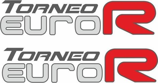 Picture of Honda Torneo Euro R Replacement side Decals / Stickers for lighter paint