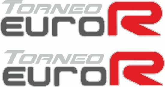 Picture of Honda Torneo Euro R Replacement side Decals / Stickers for darker paint