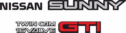 Picture of Nissan Sunny GTI N13 Replacement rear Decals / Stickers