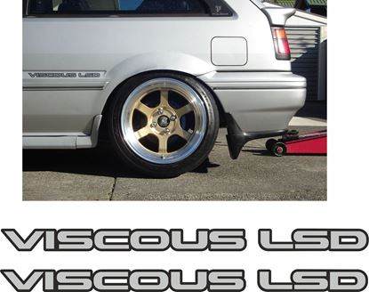 "Picture of Nissan Langley / Sunny GTI N13 ""Viscous LSD"" Decals / Stickers"