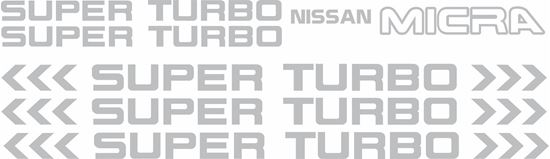 Picture of Nissan Micra Super Turbo replacement Decals / Stickers plus extras