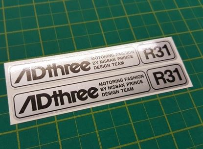 "Picture of Nissan Skyline R31 GTS ""AD Three"" Stickers / Decals"