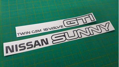 Picture of Nissan Sunny ZX /  RZ-1 B12 GTi Coupe Replacement rear boot lid Decals / Stickers