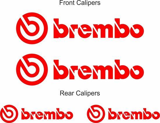 "Picture of Mitsubishi Lancer evolution  ""Brembo"" Brake Caliper replacement Decals / Stickers"