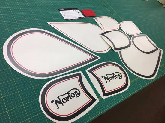 Picture of Norton Big Four Fuel Tank restoration Decals / Stickers