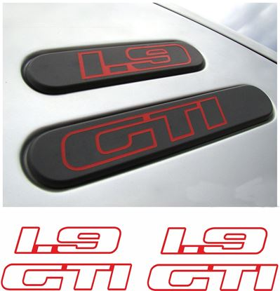 Picture of Peugeot 205 1.9 GTi side rear quarter Badge Stickers / Decals