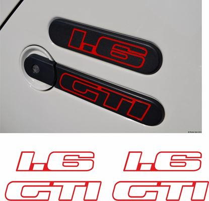 Picture of Peugeot 205 1.6 GTi side rear quarter Badge Stickers / Decals