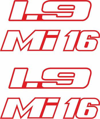 Picture of Peugeot 205 GTI 1.9 Mi 16 side quarter Badge Stickers / Decals