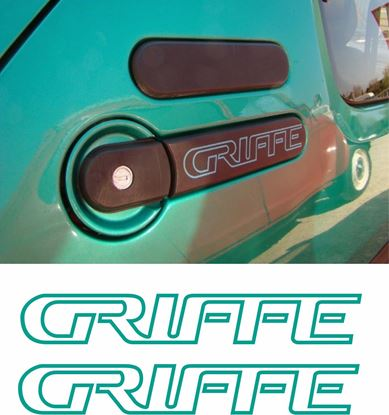 """Picture of Peugeot 205 """"Griffe"""" side rear quarter Badge Stickers / Decals"""