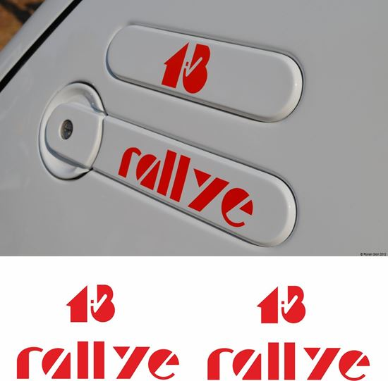 "Picture of Peugeot 205 ""1.3 Rallye"" side quarter Badge Stickers / Decals"