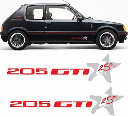 Picture of Peugeot 205 gti 25th 1 FM replacement Stickers / Decals