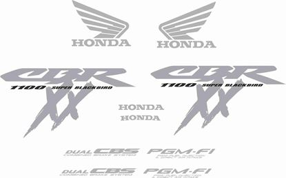 Picture of Honda CBR Super Blackbird 2000 - 2004 full replacement  Decals / Stickers