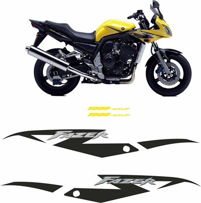Picture of Yamaha Fazer FZS 1000 EXUP Replacement Decals / Stickers