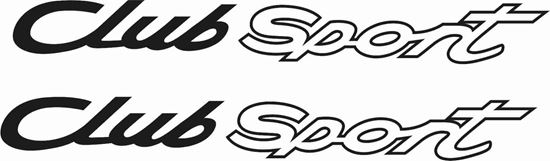 "Picture of Porsche  ""Club Sport""  General panel Decals / Stickers"