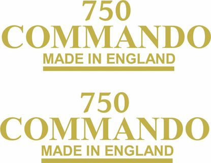 "Picture of Norton ""750 Commando Made in England"" replacement Decals / Stickers"