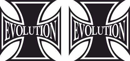 "Picture of Harley Davidson ""Evolution"" Cross Tank / Panel Decals / Stickers"