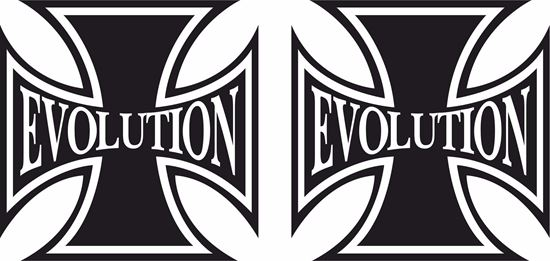 """Picture of Harley Davidson """"Evolution"""" Cross Tank / Panel Decals / Stickers"""