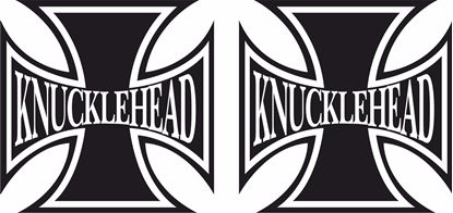 "Picture of Harley Davidson ""Knuckle Head Head"" Cross Tank / Panel Decals / Stickers"