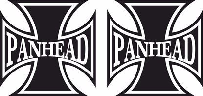 "Picture of Harley Davidson ""Pan Head Head"" Cross Tank / Panel Decals / Stickers"