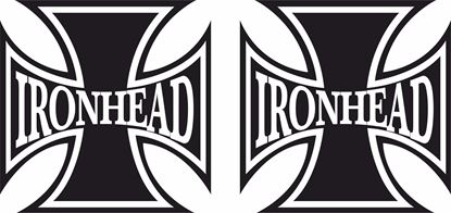 "Picture of Harley Davidson ""Iron Head Head"" Cross Tank / Panel Decals / Stickers"