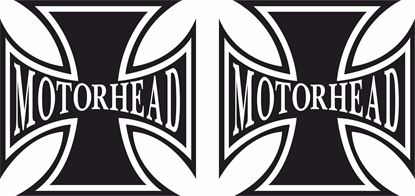 "Picture of Harley Davidson ""Motor Head Head"" Cross Tank / Panel Decals / Stickers"