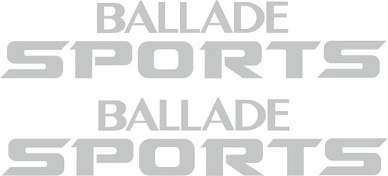 "Picture of Honda CRX ""Ballade Sports""  Replacement rear hatch / Panel  Decals / Stickers"