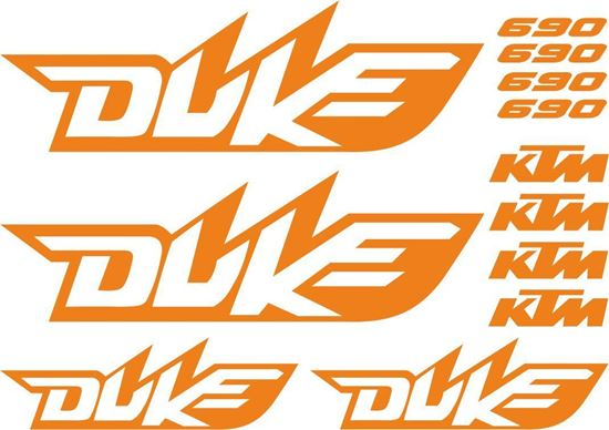 Picture of ktm 690 Duke Decals / Stickers kit