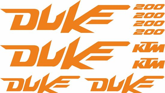 Picture of KTM 200 Duke Decals / Stickers kit