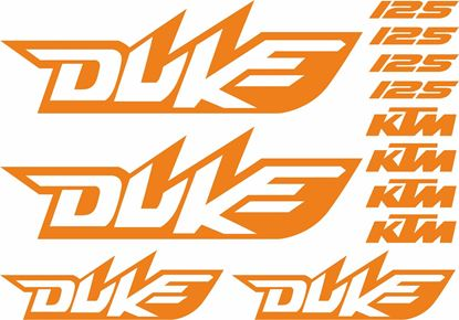 Picture of KTM 125 Duke Decals / Stickers kit