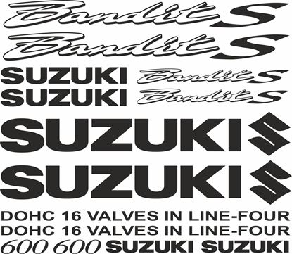 Picture of Suzuki  Bandit 600S  Decals / Stickers  kit