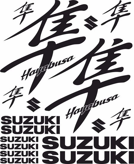 Picture of Hayabusa GSX 1300R 1999 - 2007 Decals / Stickers kit